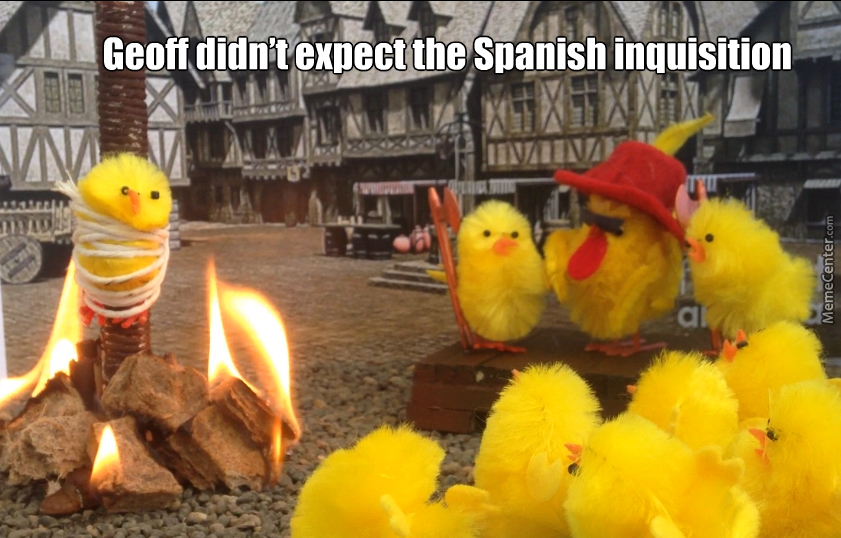 no one expects the spanish inquisition_o_3757523 no one expects the spanish inquisition by mitchellsy meme center,Spanish Inquisition Meme
