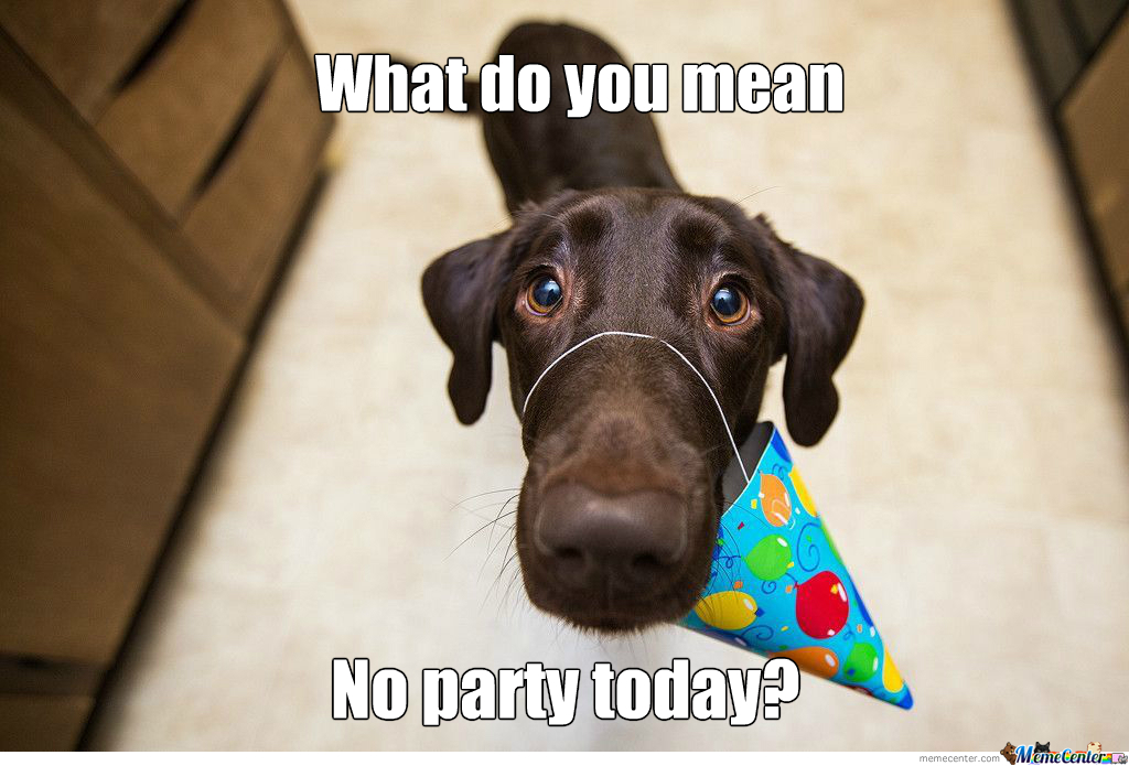 No Party Today??