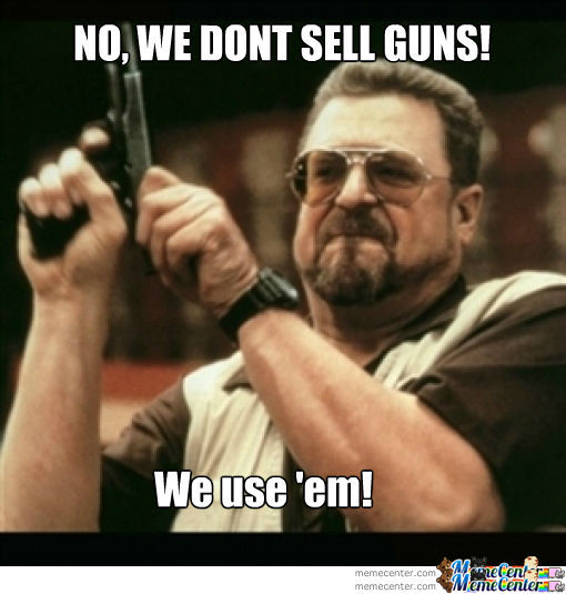 No Selling Guns By The Crappy Crap Meme Center