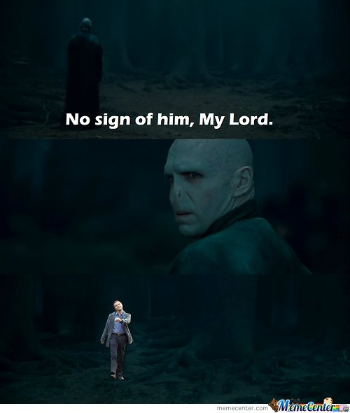no sign of him my lord by ronald meme center