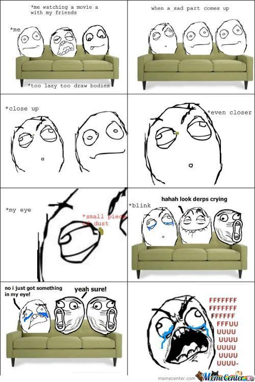Watching a movie with my friends