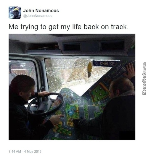 No Way To Get Back On Track.