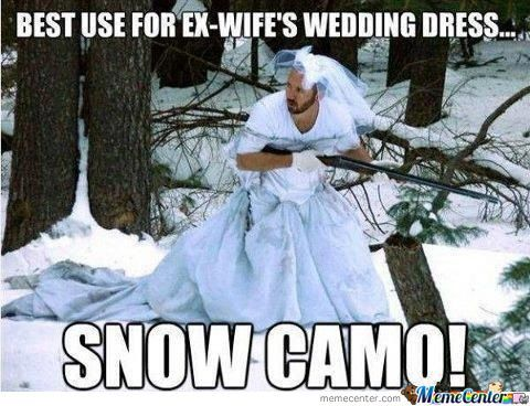 best use for ex-wife's wedding dress