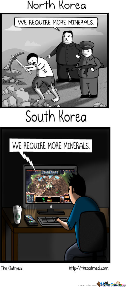North Vs South Korea By Mathew Inman