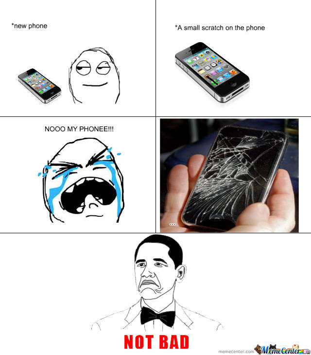 broken iphone meme not bad when iphone broken by killerspider meme center 4580
