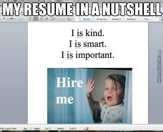 Resume Memes Best Collection Of Funny Resume Pictures