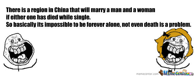 Not Forever Alone In China