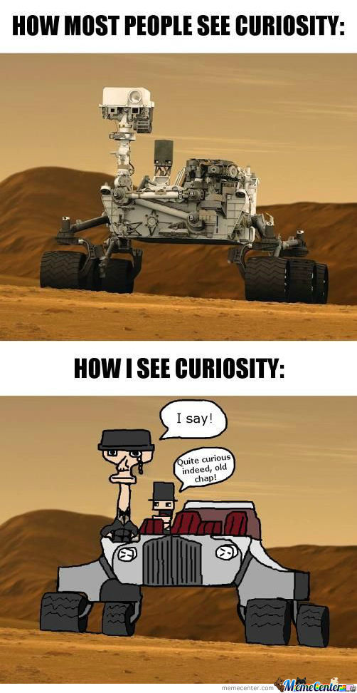 How most people see Curiosity