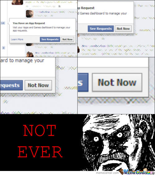 Not Now, Not Ever!