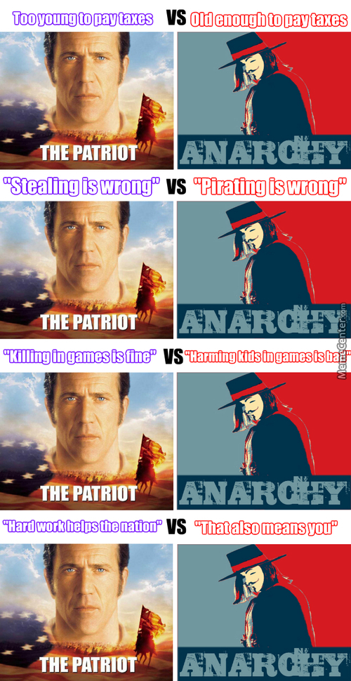 Not Sure If Patriot Or Anonymous Supporter