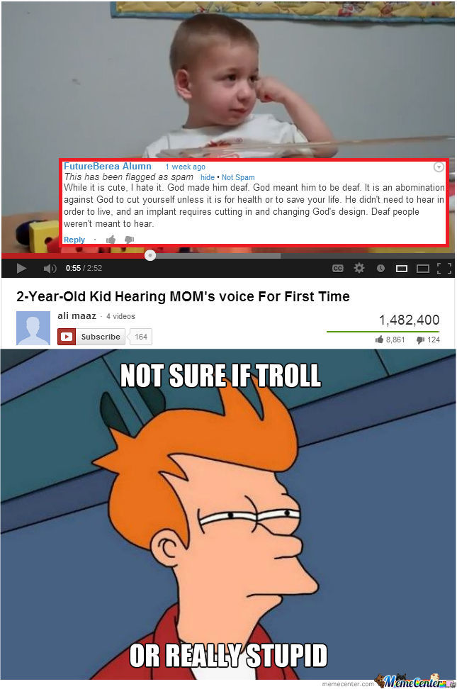Not Sure If Troll, Or Really Stupid