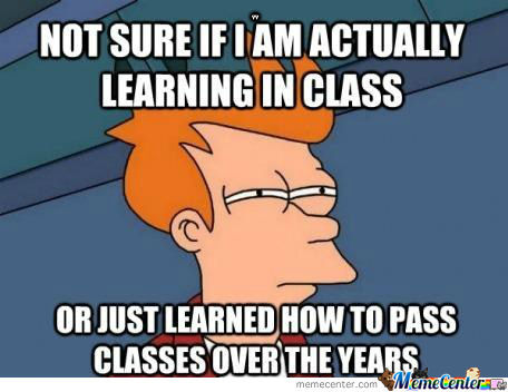 Not Sure If I Am Actually Learning In Class