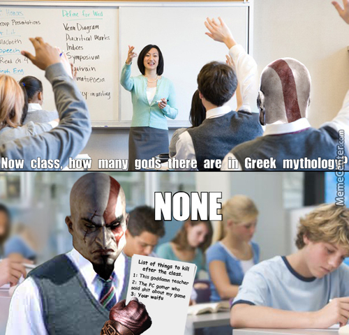 Now Class, How Many Gods There Are In Greek Mythology?
