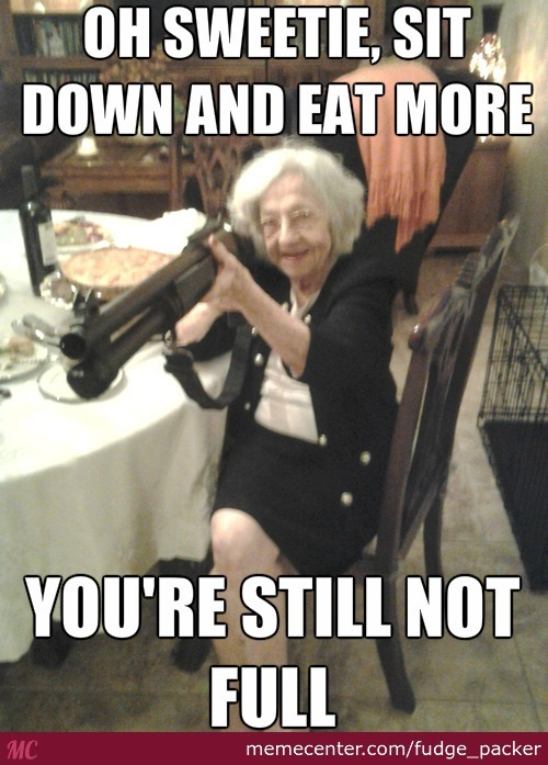 Now Take Off Your Cloths For Grandma.. Slowly And Eat Slowly Too
