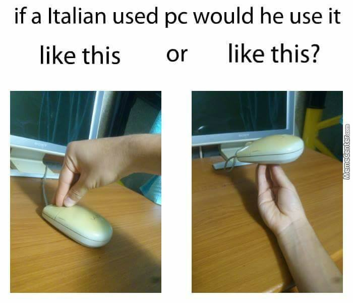 Now That I Think About It, Italians Use A Pizza Slice To Use The Internet