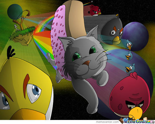 Nyancat And Angry Birds