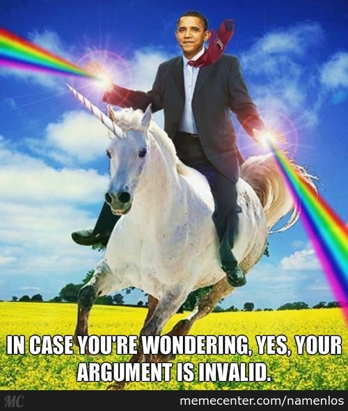 Obama Shooting Rainbows And Riding A Unicorn