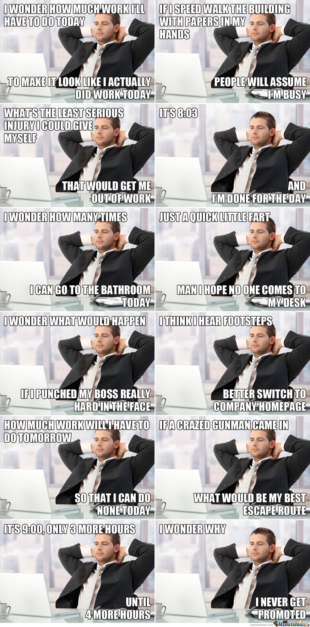 office thoughts meme wwwpixsharkcom images galleries