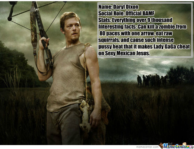 Official Daryl Dixon Trading Card By Gooby Meme Center