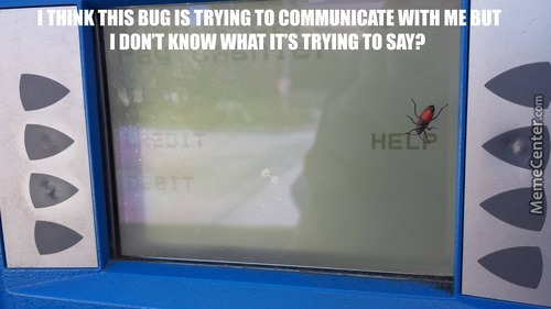 Oh, Hello There Mr Bug Want You Doing In My Atm Machine