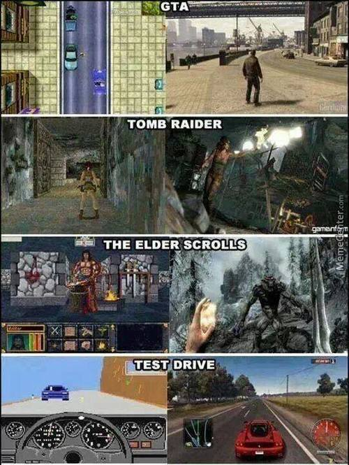 Oh How Video Games Have Upgraded