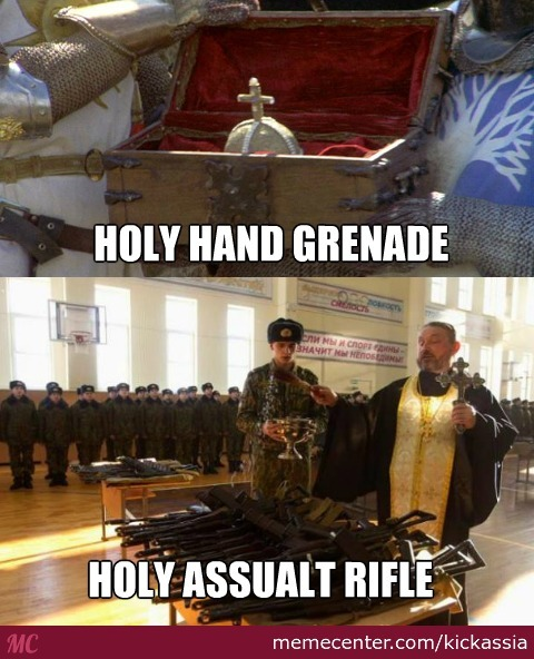 Oh Lord, Bless This Thy Hand Grenade To With It I May Blow Thy Enemy To Tiny Bits