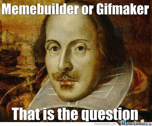 Oh Shakespeare...