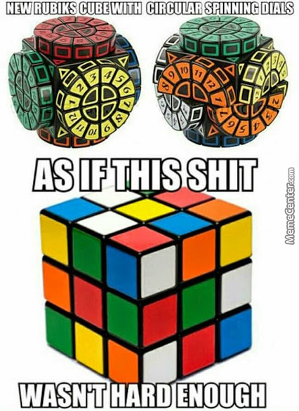 Oh, You're Having A Hard Time Solving That Cube? Never Mind That, We Have Circles On Cubes With Math Shits!!!