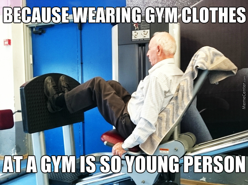 Image result for old people in the gym funny