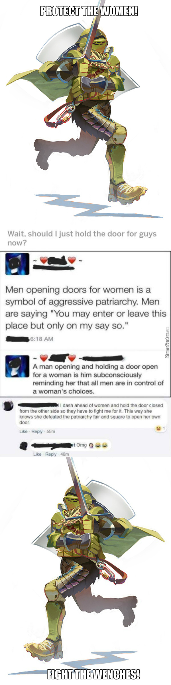 Omg U Just Cant Open The Door For A Girl, Your Raping Her U Pig