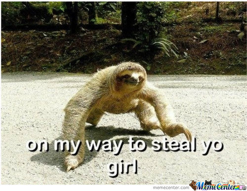 On My Way To Steal Yo Gurl. It's Sloth Time