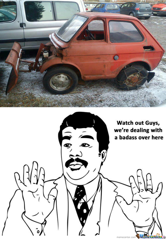 One Badass Snow Plow By Victroll Meme Center