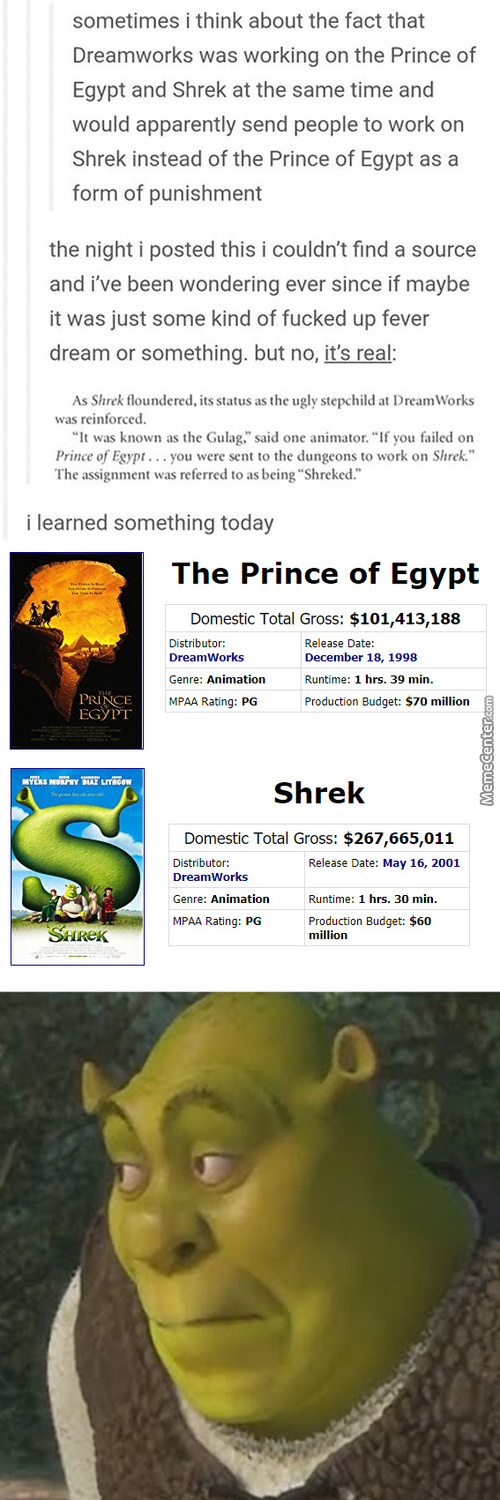 One Is A Movie About God's Chosen One On Earth. The Other Movie Is Prince Of Egypt.