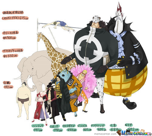 One Piece 7 Warlords Size