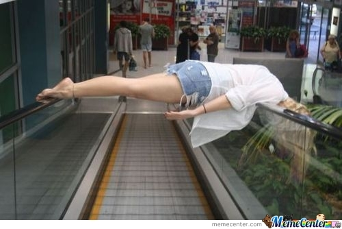 One Way To Ride An Escalator... The Safe Way