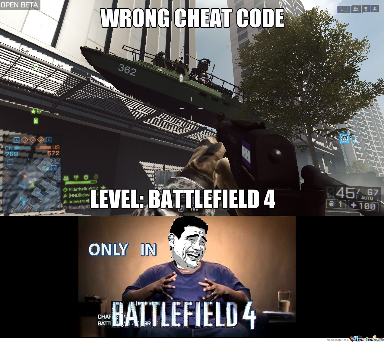 Only In Battlefield 4, #4 - The Cheat Codes