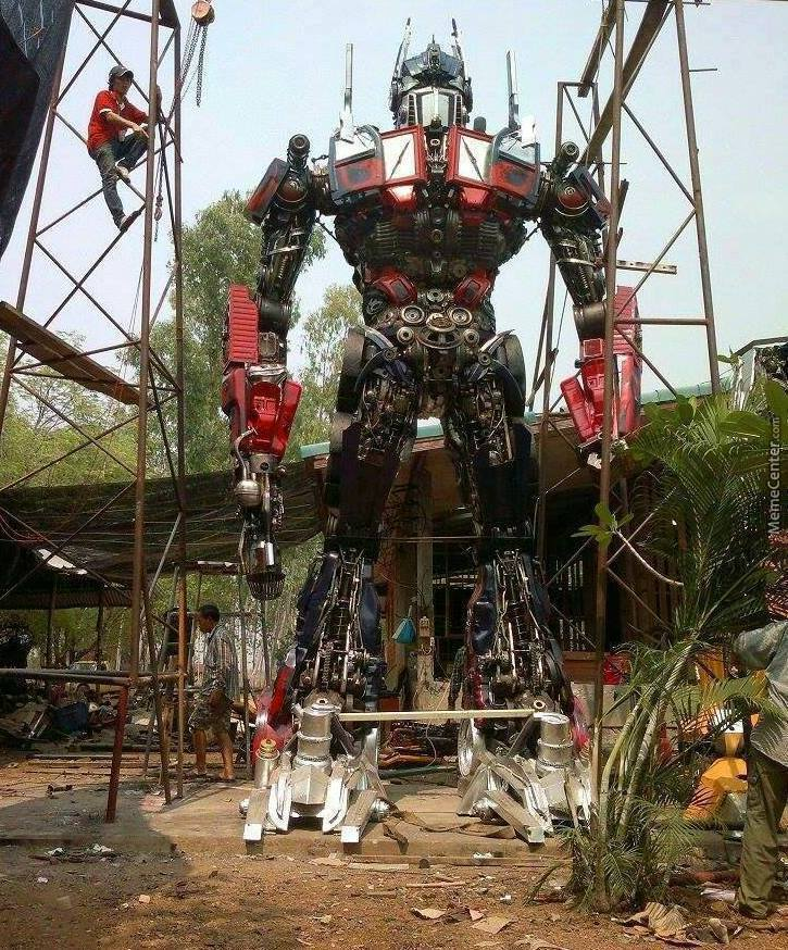 Optimus Prime Made From Old Car Parts In Thailand. by johntrevor ...