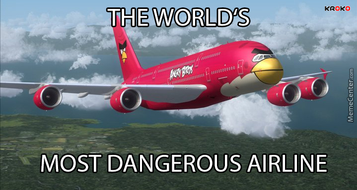 Or Maybe Second Most Dangerous Airline *cough* Malaysia Airlines *cough*