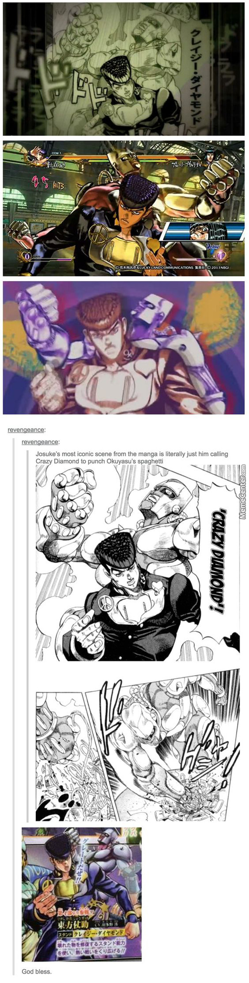 Other Joestars Saved The World,but Josuke Punched A Plate Of Spaghetti.