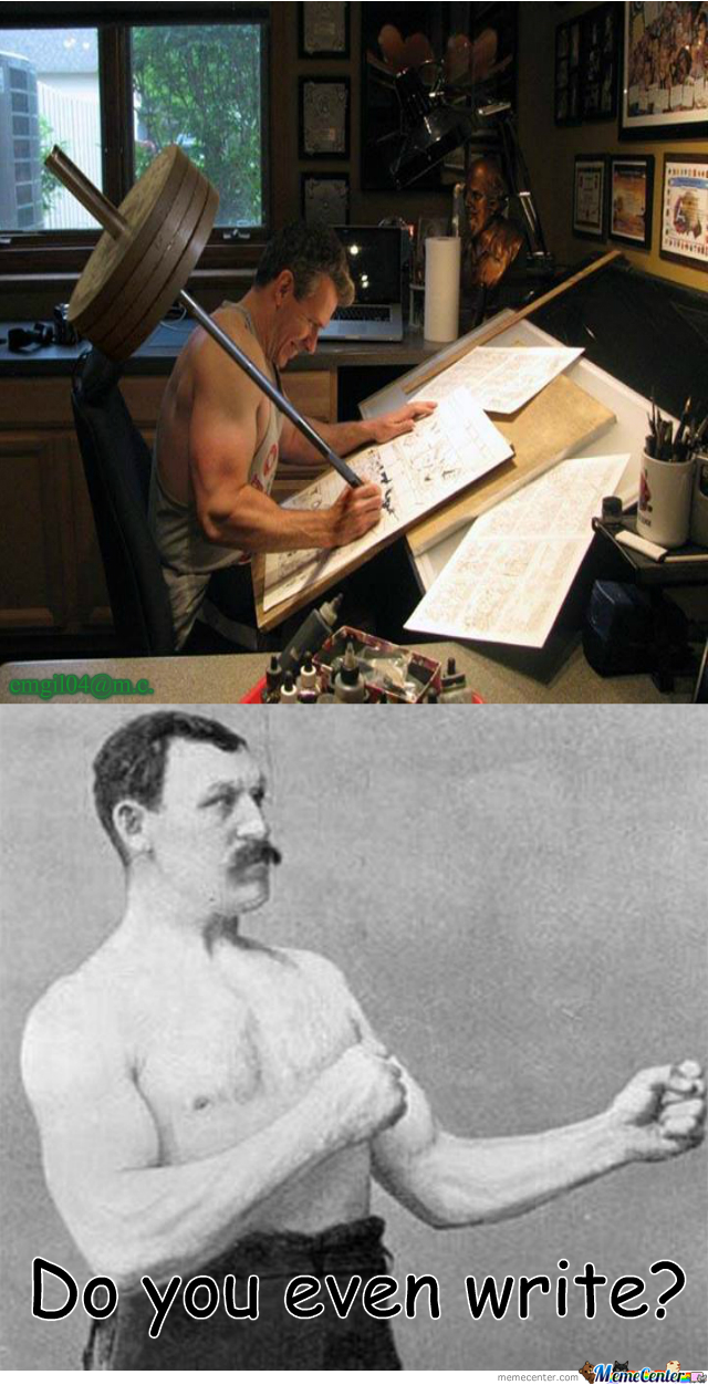 Overly Manly Cartoonist