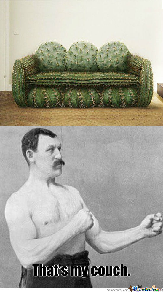 Overly Manly Man's Couch
