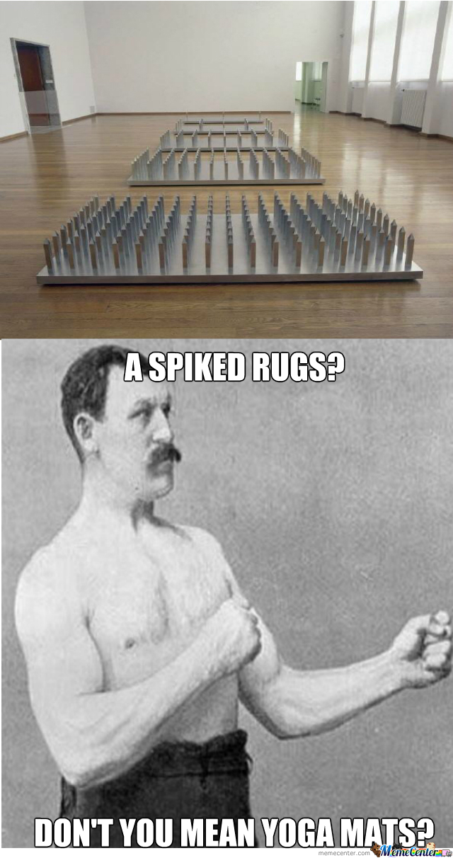 Overly Manly Man's Yoga Mats