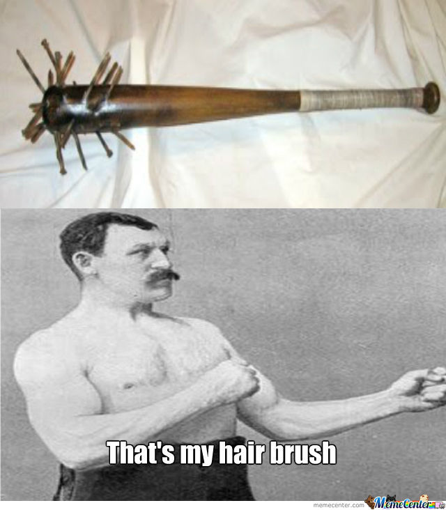 Overly Manly Man's Hair Brush