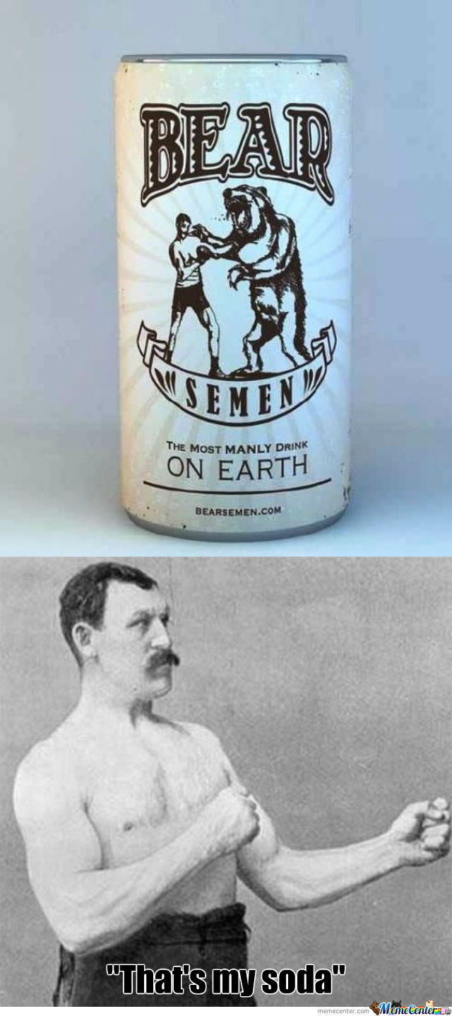 Overly Manly Man's Soda