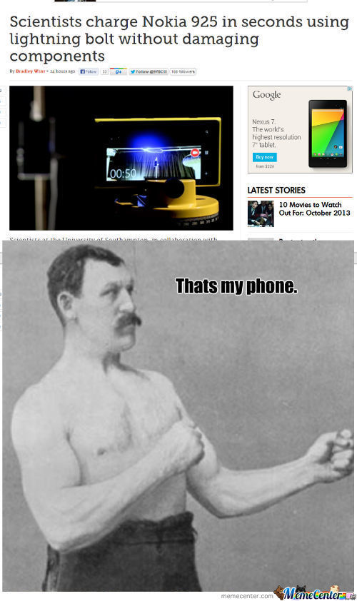 Overly Manly Phone