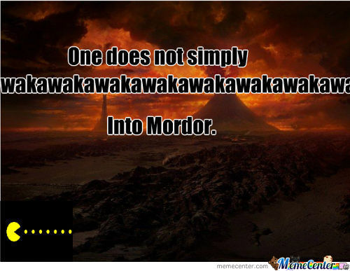 Pac Man Goes To Mordor