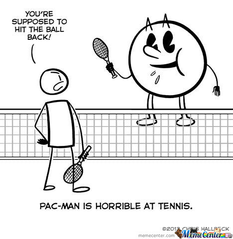 Pac-Man Is Horrible At Tennis