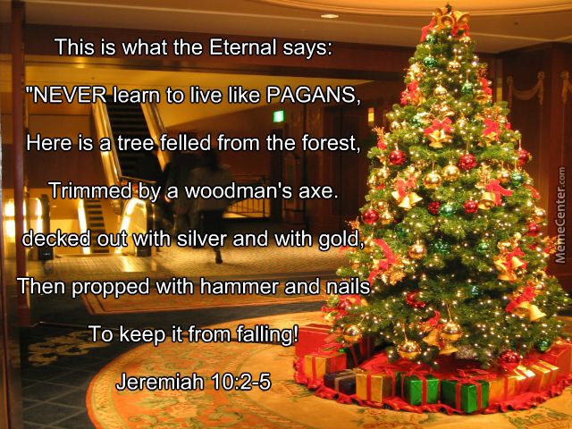 Pagan Christmas Tree.Pagan Christmas Tree By Pzolla Meme Center