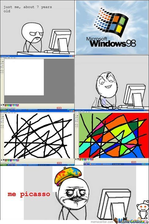Painting Windows 98 .