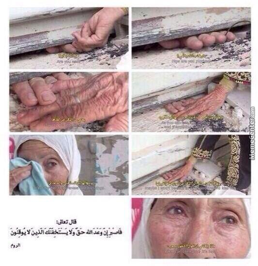Palestinian Women Goes Every Morning To Shake Hands With Her Mother